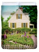 Cottage And Garden Duvet Cover by Jill Battaglia