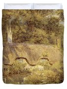 Cottage At Farringford Isle Of Wight Duvet Cover by Helen Allingham