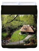Cottage Ornee Tearoom, Kilfane Glen, Co Duvet Cover by The Irish Image Collection