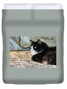 Country Kitty Duvet Cover by Michelle Milano