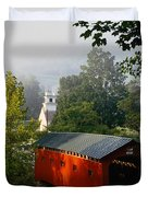 Covered Bridge Duvet Cover by Rafael Macia and Photo Researchers