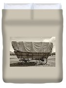 Covered Wagon Sepia Duvet Cover by Steve Harrington