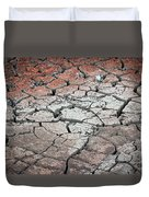 Cracked Earth Duvet Cover by Athena Mckinzie