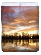 Crane Hollow Sunrise Boulder County Colorado Duvet Cover by James BO  Insogna