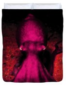Creatures Of The Deep - The Octopus - V4 - Violet Duvet Cover by Wingsdomain Art and Photography