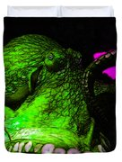 Creatures of The Deep - The Octopus - v6 - Green Duvet Cover by Wingsdomain Art and Photography