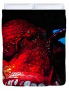 Creatures Of The Deep - The Octopus - V6 - Red Duvet Cover by Wingsdomain Art and Photography