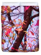 Crisp Autumn Day Duvet Cover by Judi Bagwell