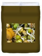 Cross Section Of Some Healthy Sprouts Duvet Cover by Ashish Agarwal