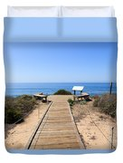 Crystal Cove State Park Ocean Overlook Duvet Cover by Paul Velgos