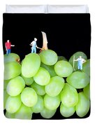 Cultivation On Grapes Duvet Cover by Paul Ge