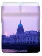 Custom House, Dublin, Co Dublin, Ireland Duvet Cover by The Irish Image Collection