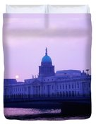 Custom House, Dublin, Co Dublin, Ireland Duvet Cover by The Irish Image Collection