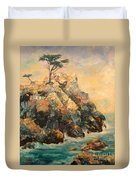 Cypress Tree Duvet Cover by Carolyn Jarvis