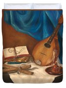 Dad's Mandolin Duvet Cover by Kathy Wood