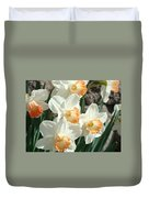 Daffodil Flowers Art Prints Spring Floral Duvet Cover by Baslee Troutman