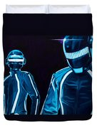 Daft Punk Duvet Cover by Ellen Patton