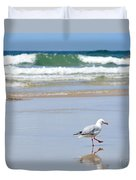 Dancing On The Beach Duvet Cover by Kaye Menner