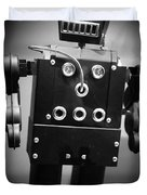 Dark Metal Robot Duvet Cover by Edward Fielding