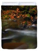 Dark Water Autumn Duvet Cover by Mike  Dawson