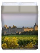 Dawn In Carcassonne Duvet Cover by Brian Jannsen