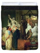 Dealer In Statues  Duvet Cover by Sir Lawrence Alma-Tadema