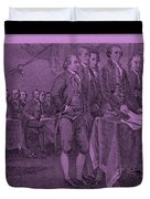 DECLARATION OF INDEPENDENCE in PINK Duvet Cover by ROB HANS