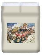Defence Of Corunna Duvet Cover by C L Doughty