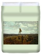 Defiance - Inviting A Shot Before Petersburg Duvet Cover by Winslow Homer