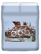 Demonic Humor At Industrial Site Haunted House Duvet Cover by Gary Whitton