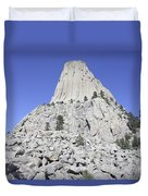 Devils Tower National Monument, Wyoming Duvet Cover by Richard Roscoe