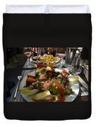 Dinner Is Served Duvet Cover by Dany Lison