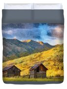 Distant Storm Duvet Cover by Jeff Kolker
