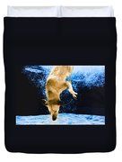 Diving Dog 3 Duvet Cover by Jill Reger