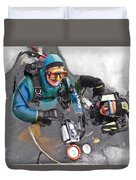 Diving In The Ice Duvet Cover by Heiko Koehrer-Wagner
