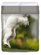 Dog Jumps Duvet Cover by Richard Wear