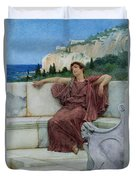 Dolce Far Niente Duvet Cover by Sir Lawrence Alma-Tadema