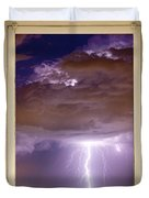 Double Lightning Strike Picture Window Duvet Cover by James BO  Insogna
