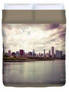 Downtown Chicago Skyline Lakefront Duvet Cover by Paul Velgos