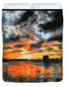 Dreaming Of A Tropical Paradise Detail B Duvet Cover by John Lautermilch
