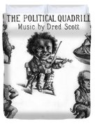 Dred Scott & The 1860 Presidential Race Duvet Cover by Photo Researchers