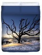 Driftwood Beach At Dawn Duvet Cover by Debra and Dave Vanderlaan