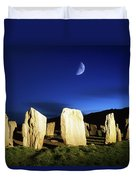 Drombeg, County Cork, Ireland Moon Over Duvet Cover by Richard Cummins
