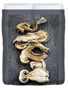 Dry Porcini Mushrooms Duvet Cover by Elena Elisseeva