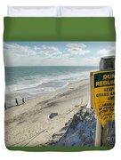 Dunes Rebuilding Keep Off Grass And Dune Area Cape Cod Duvet Cover by Matt Suess