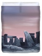 Dusk On The Winter Solstice At Stonehenge 1877 Duvet Cover by Alys Caviness-Gober