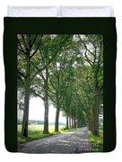 Dutch Road - Digital Painting Duvet Cover by Carol Groenen