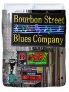 Early Morning Bourbon Street Duvet Cover by Bill Cannon