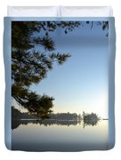 Early Morning On Lost Lake Duvet Cover by Michelle Calkins