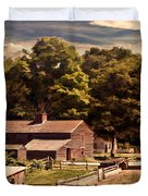 Early Settlers Duvet Cover by Lourry Legarde